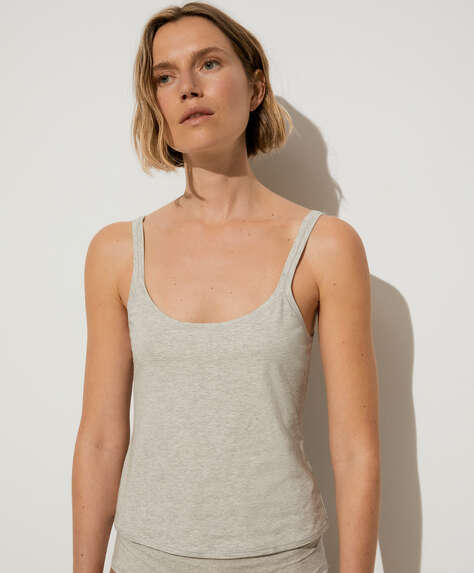 Cotton comfort vest top