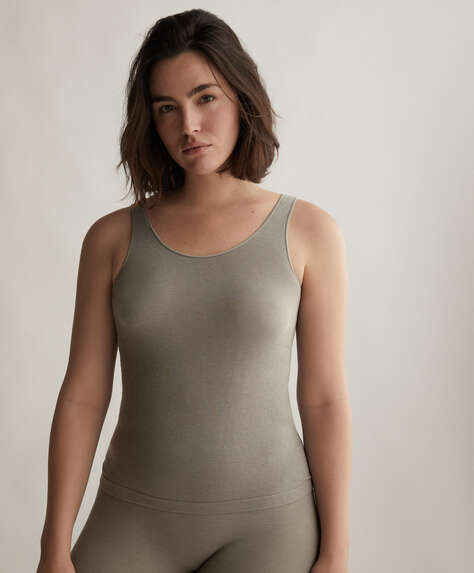One size sleeveless seamless vest top