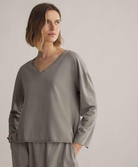 Camiseta larga cotton relax