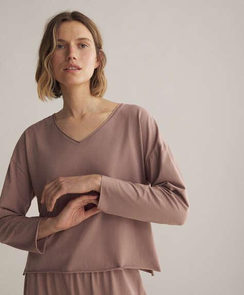 Long-sleeved cotton relax T-shirt
