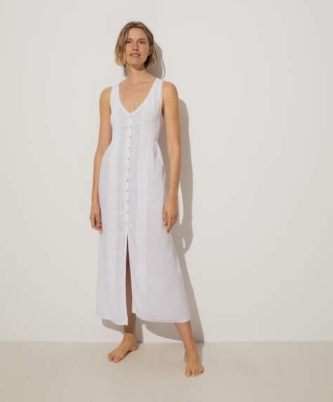 100% cotton plumeti strappy nightdress