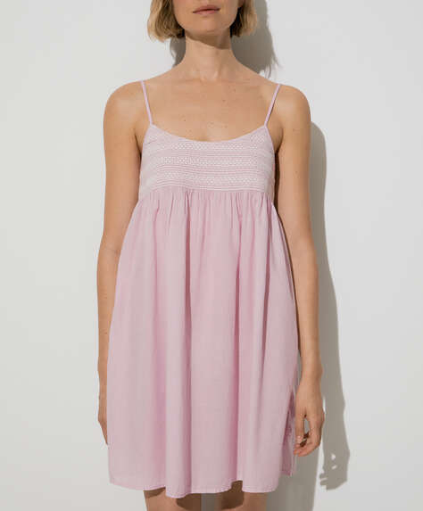 Mauve 100% cotton nightdress