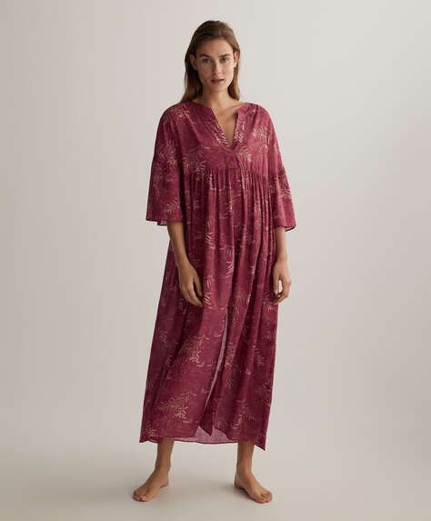 100% cotton sprig kaftan