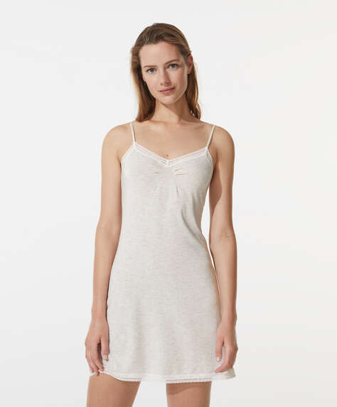 Modal and lace nightdress