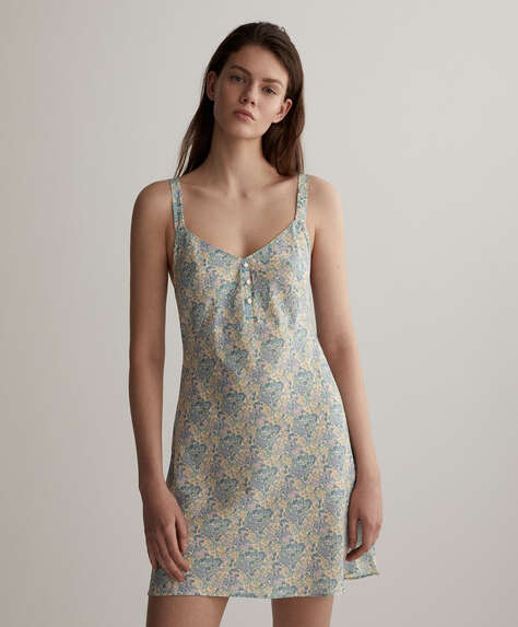 Short floral camisole nightdress