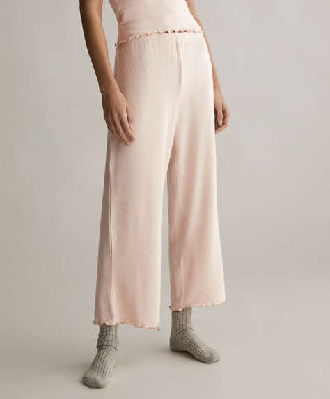Plain comfort feel culottes