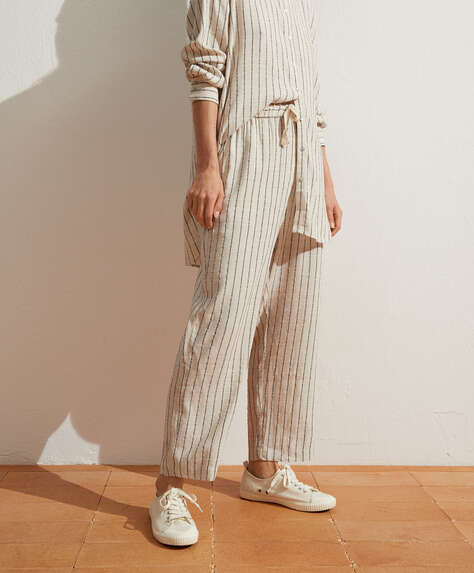 Rustic stripe trousers