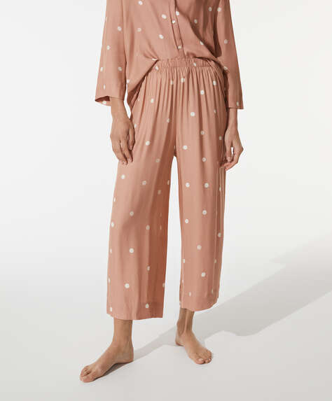 Dot pink culottes