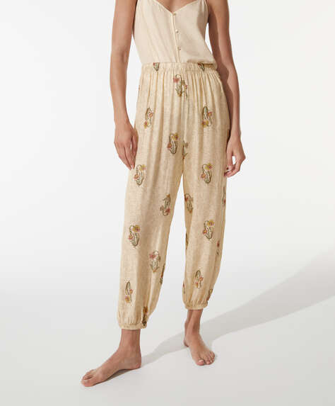 Long Indian print trousers