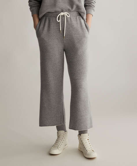 Grey cotton trousers