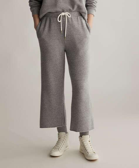 Pantalon en coton gris