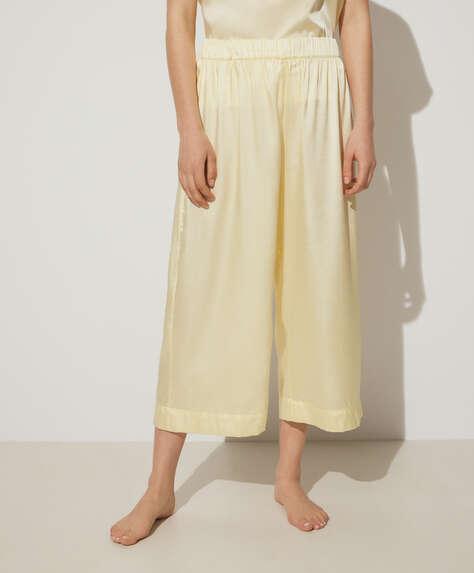 بنطلون culotte ثنائي اللون أصفر