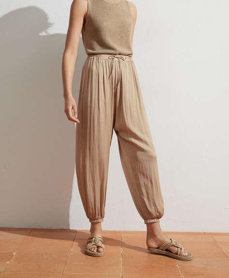 Pantaloni harem satinati