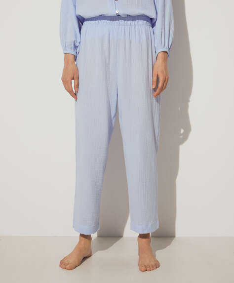 Blue 100% cotton trousers