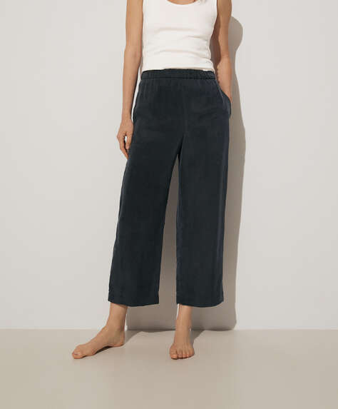 100% cupro trousers