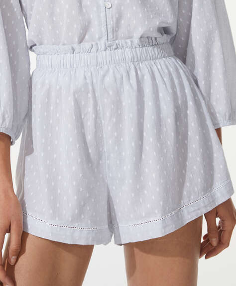 100% cotton plumeti shorts