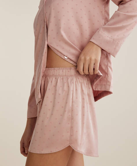 Pink mini heart shorts