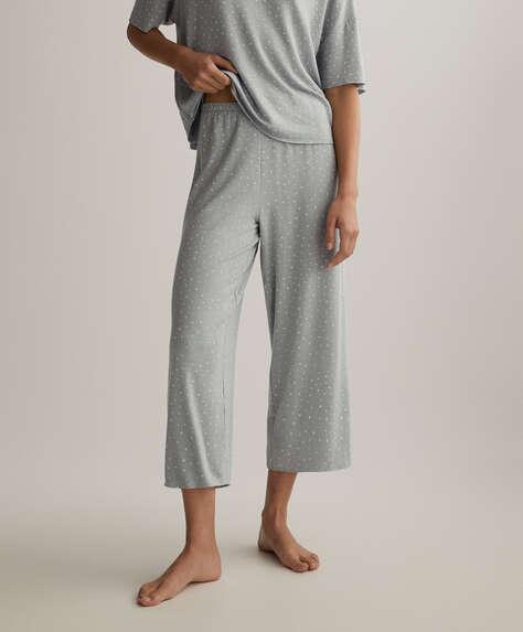 Pantalon culotte à petites étoiles