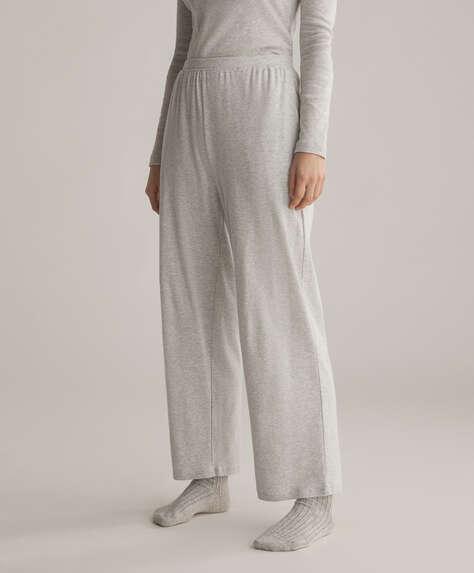 %100 pamuklu düz pantolon