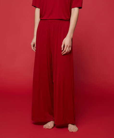Red modal trousers