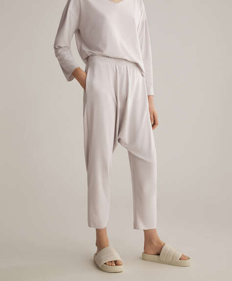 Cotton relax harem trousers