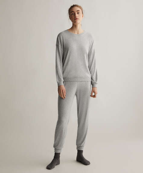 Plain soft touch trousers