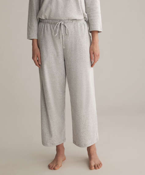 Grey organic cotton culottes