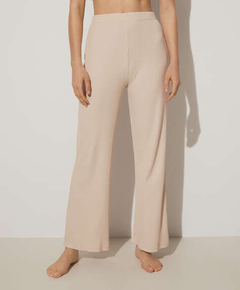 Rib lounge trousers