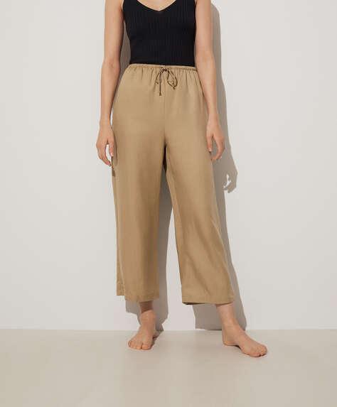 Lange Hose aus Tencel® und Leinen