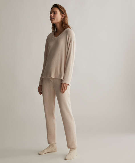 Comfort feel straight leg trousers