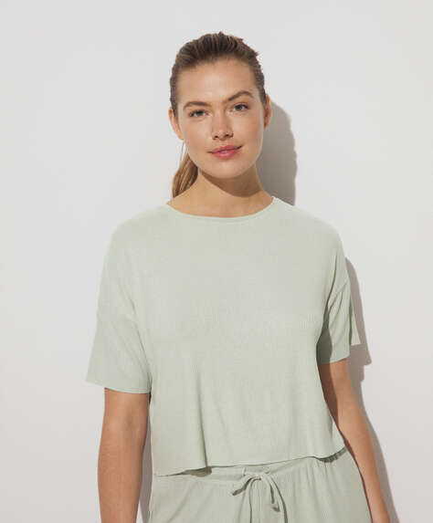T-shirt comfort rib