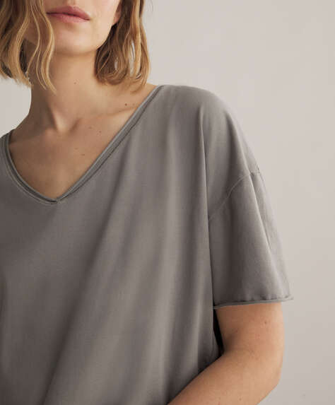 Camiseta manga corta cotton relax