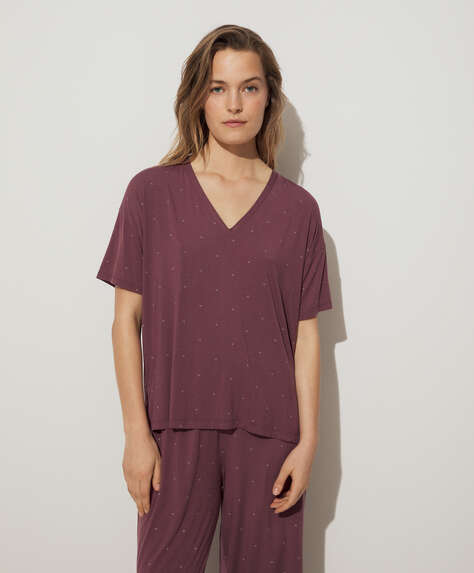 Plain soft touch short-sleeved T-shirt