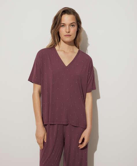 Plain soft touch short-sleeved T-shirt