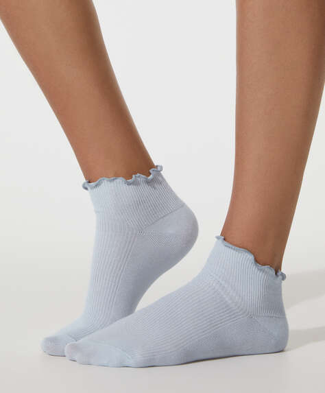5 pairs of curly cotton ankle socks