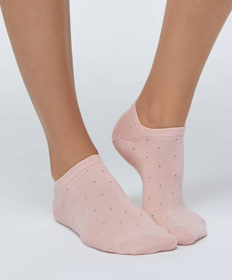 5 pairs of dotty ankle socks