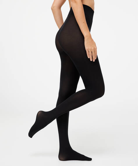 Plain 90 denier tights