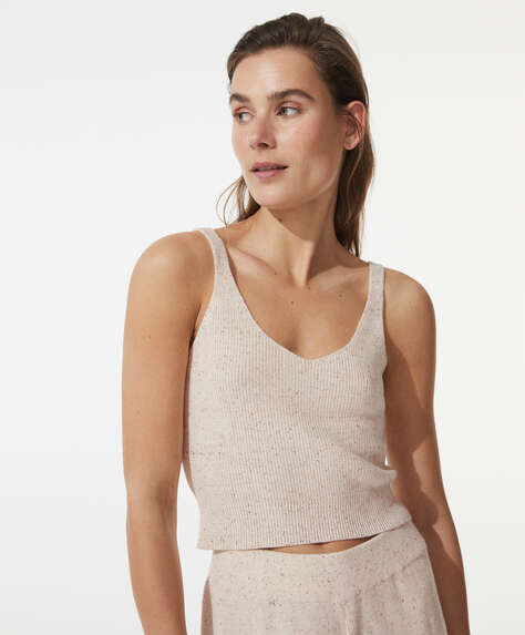 Knit cotton top