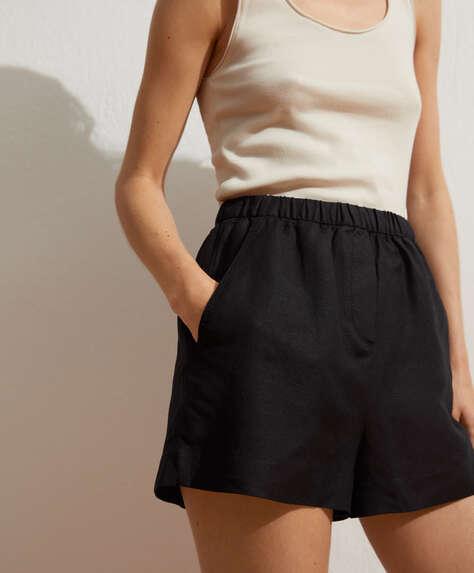Pantalón corto lino