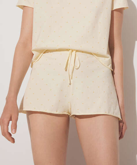 100% cotton tulip print shorts