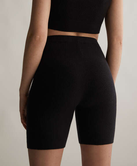 Knit cycling shorts