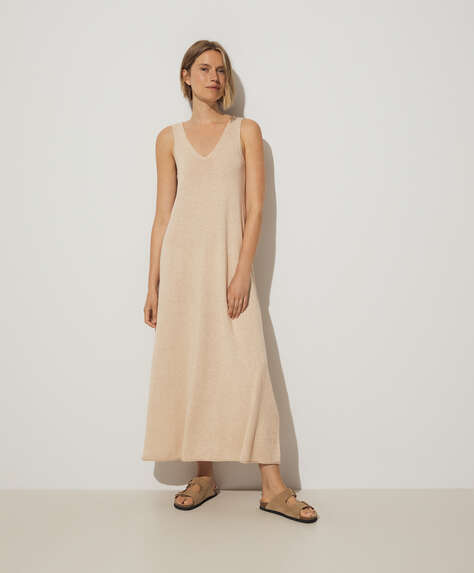Long cotton and linen dress
