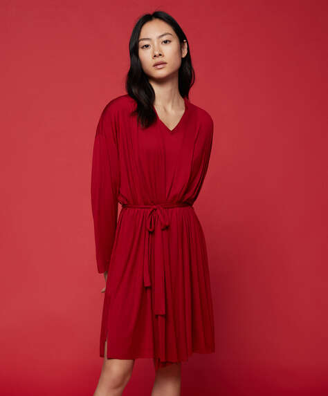 Red modal dressing gown