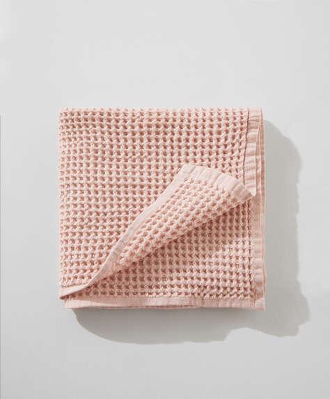 Håndklæde i 100% vaflet bomuld