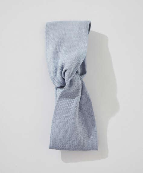 Våfflad turban 100 % linne