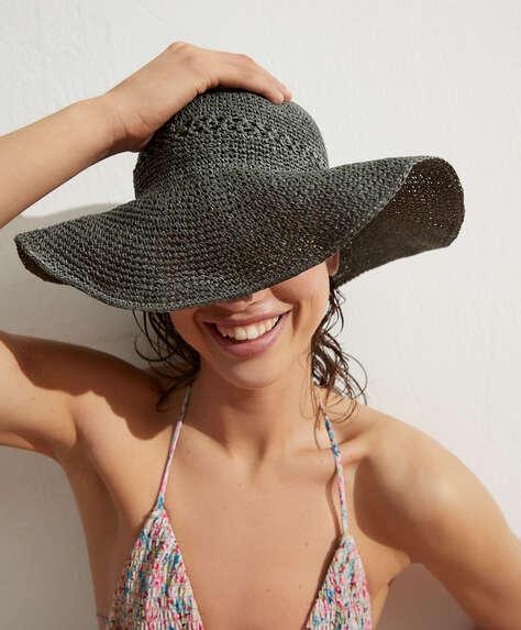 Шляпа в стиле боб из 100%бумаги.<br/>Диаметр: 58см.