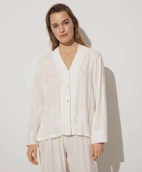 قميص جاكار أبيض