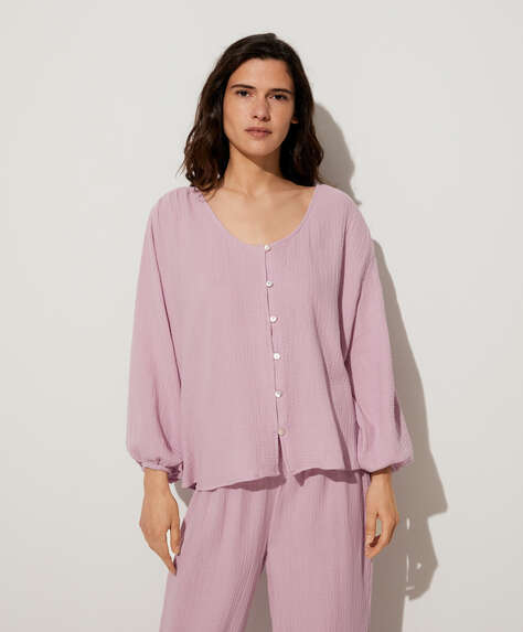 Mauve 100% cotton shirt