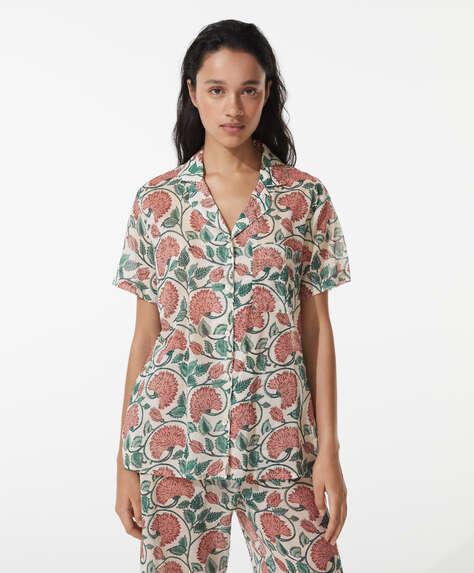 Camisa 100% algodón clavel