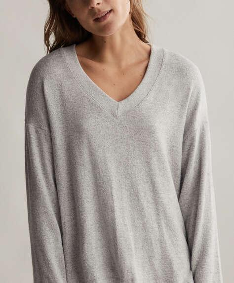 Comfort Feel Pullover mit V-Ausschnitt